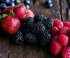 food, berries, and strawberry image