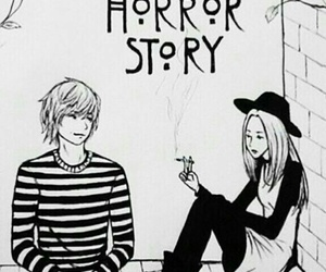 black and white, tate, and american horror story image