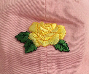 pink, flowers, and yellow image