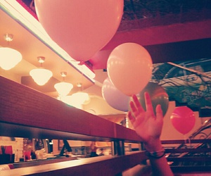 balloons, cafe, and fun image
