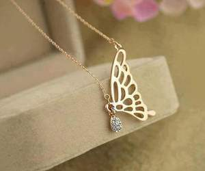 butterfly, necklace, and accessories image