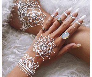 henna, nails, and rings image