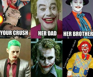 funny, harley quinn, and joker image