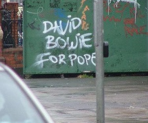 david bowie, pope, and bowie image