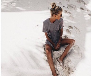 girl, summer, and beac image