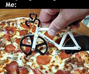pizza, bike, and funny image