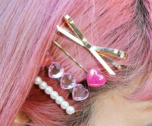 pink, accessories, and hair image