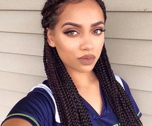 girl, makeup, and braids image