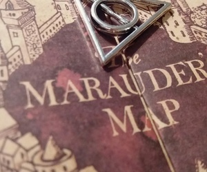 harry potter, movie, and the marauder's map image