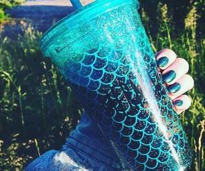 mermaid, blue, and tumblr image