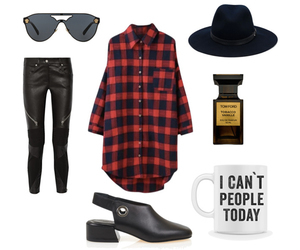 fall, fall fashion, and flannel image