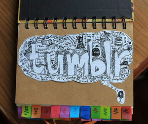colours, notebook, and doodles image
