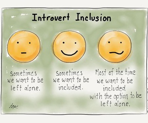 introvert and alone image