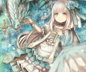 dragon and anime image