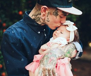 child, father, and love image