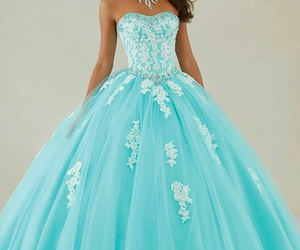 dress, beautiful, and blue image