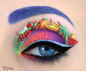 fruit, makeup, and eye image