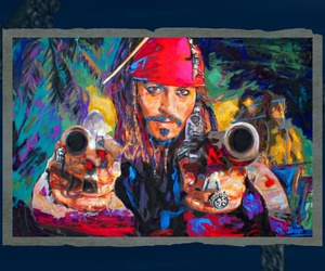 draw, guns, and jack sparrow image