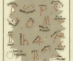 harry potter, spell, and wand image