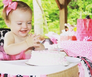 baby girl, birthday, and birthday party image