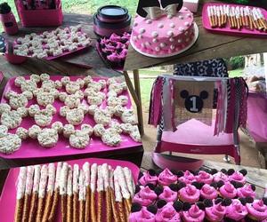 baby girl, birthday cake, and birthday party image
