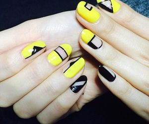 black and yellow, chic, and cool image
