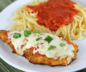 food, yummy, and spaghetti image