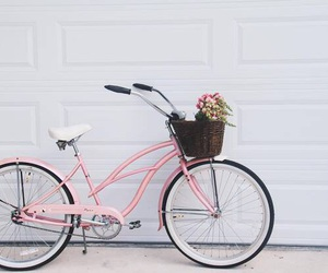 bike, pink, and aesthetic image