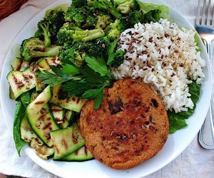 healthy, dinner, and fit image