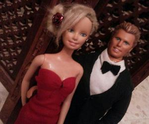 barbie, couple, and dress image
