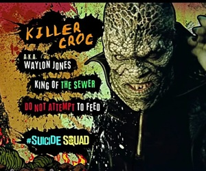 killer croc and suicide squad image