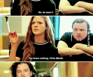 coldplay, funny, and game of thrones image