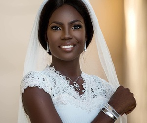 beautiful, black girl, and bride image