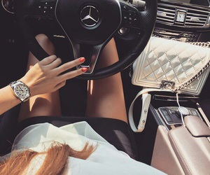 car, girl, and chanel image