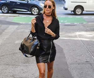 black, fashion, and leather skirt image