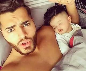 baby, boy, and dad image