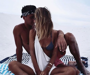 love, beach, and girl image