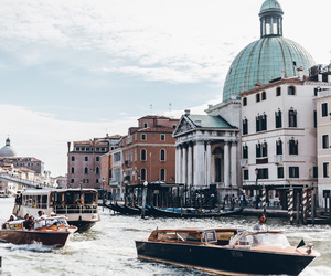 beautiful, grand canal, and venice image