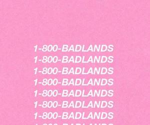 badlands, pink, and halsey image