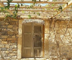 crete, door, and sun image