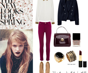 fashion, rings, and dark lipstick image