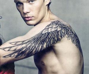 tattoo, boy, and wings image