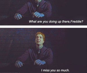 harry potter, book, and fred weasley image