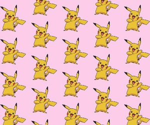 pikachu, pink, and wallpaper image