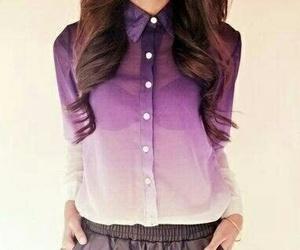 fashion, purple, and shirt image