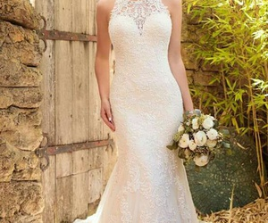 dresses, wedding dress, and love image