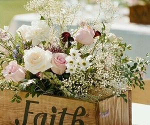 flowers, faith, and rose image
