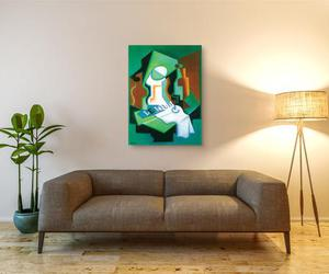 cubism, home decor, and mirror image