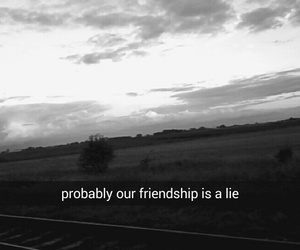 friendship, lie, and fake friends image