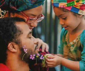 family and flowers image